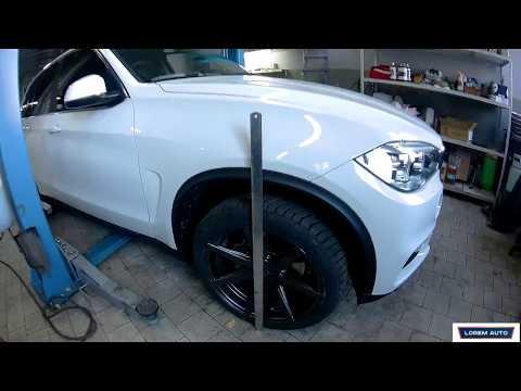 Занижение BMW X5. Замена пружин.