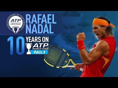 Rafael Nadal 10-Year Anniversary Of Rise to World No. 1