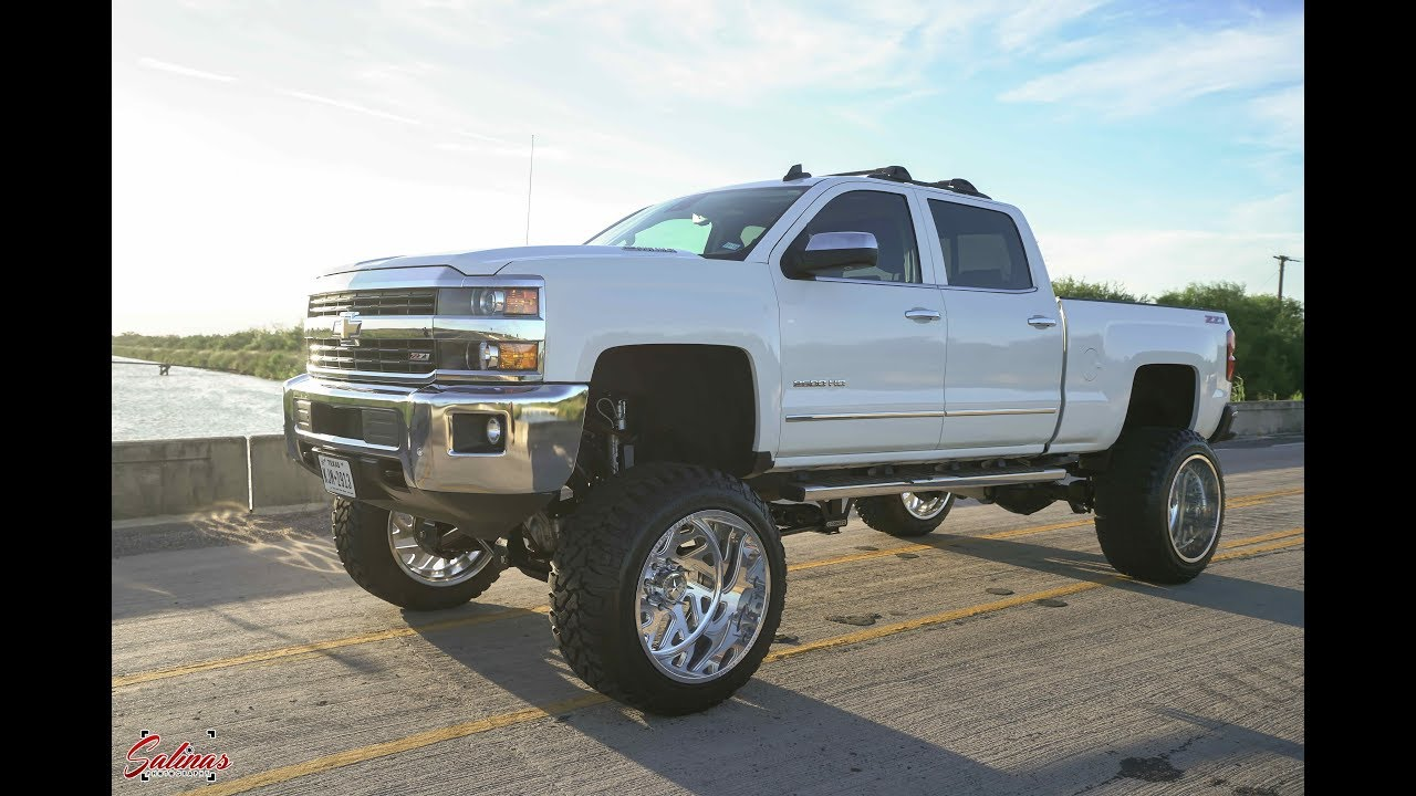 HEAVY DUTY DURAMAX DIESEL RIDING ON 24X16S WITH A 12 INCH ...