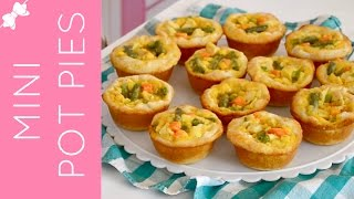Mini Chicken Pot Pies In A Cupcake Pan {traditional & Reduced Fat Options}