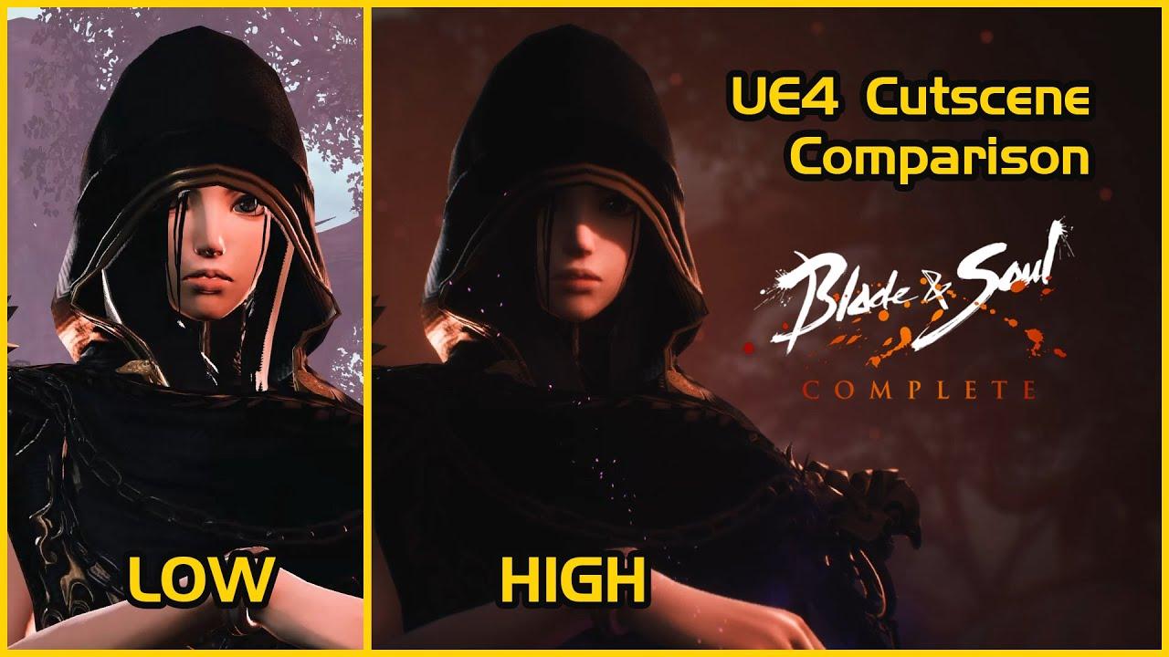 BNS UE4 cutscene graphic comparison