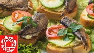 Бутерброды со шпротами для фуршета 👍😋 Просто, Красиво и Вкусно!