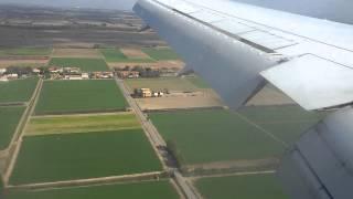 Посадка самолета в аэропорту Рима