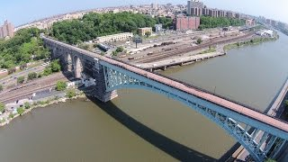 Drone Footage of High Bridge, NYC's Longest Standing Span