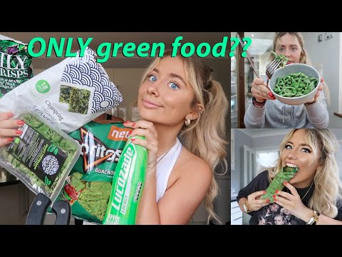 I ONLY ate GREEN food for 24hours!!