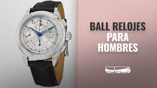 10 Mejores Ball 2018: Ball Trainmaster Pulsemeter Chronometer Automatic Mens Strap Watch Silver Dial