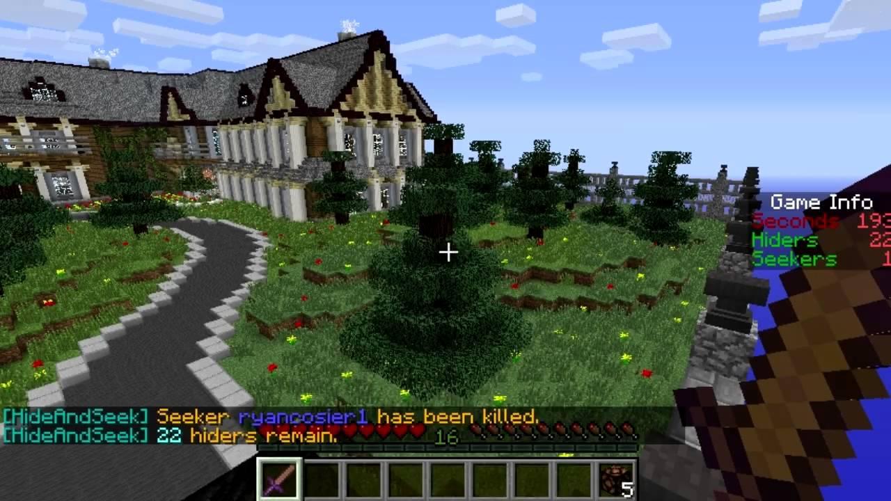 . minecraft hide and seek villa glitch  youtube