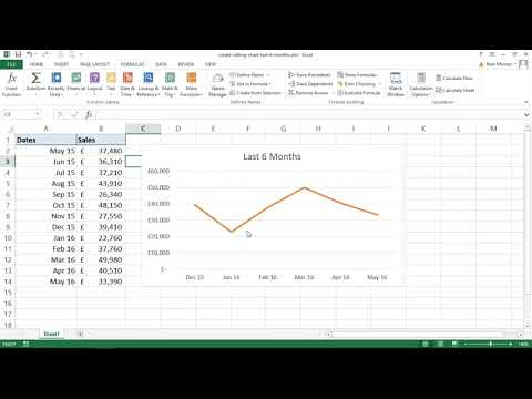Create Dynamic Rolling Chart to Show Last 6 Months