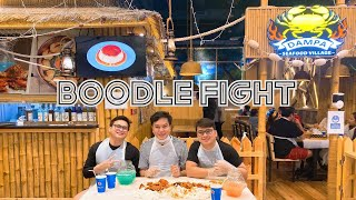 DAMPA SEAFOOD VILLAGE IN QATAR | BOODLE FIGHT VLOG by J&J KINGS