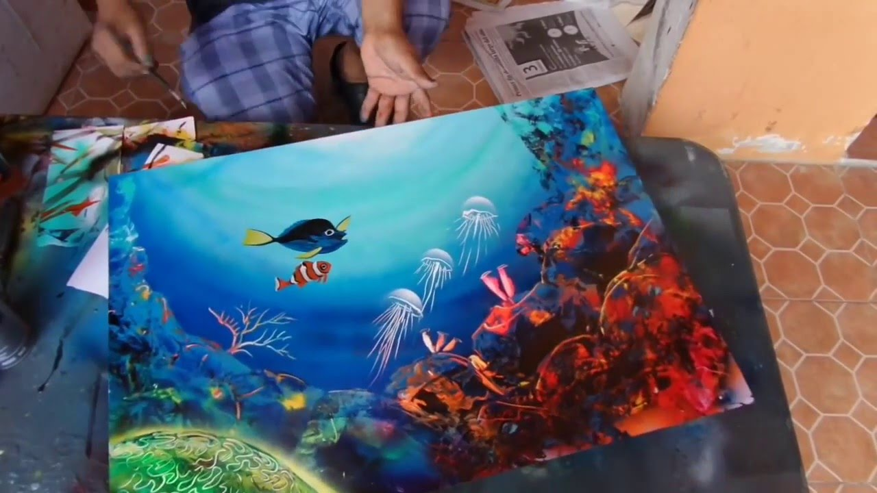 Crazy Painting Crazy Spray Paint Art Best Ever Youtube