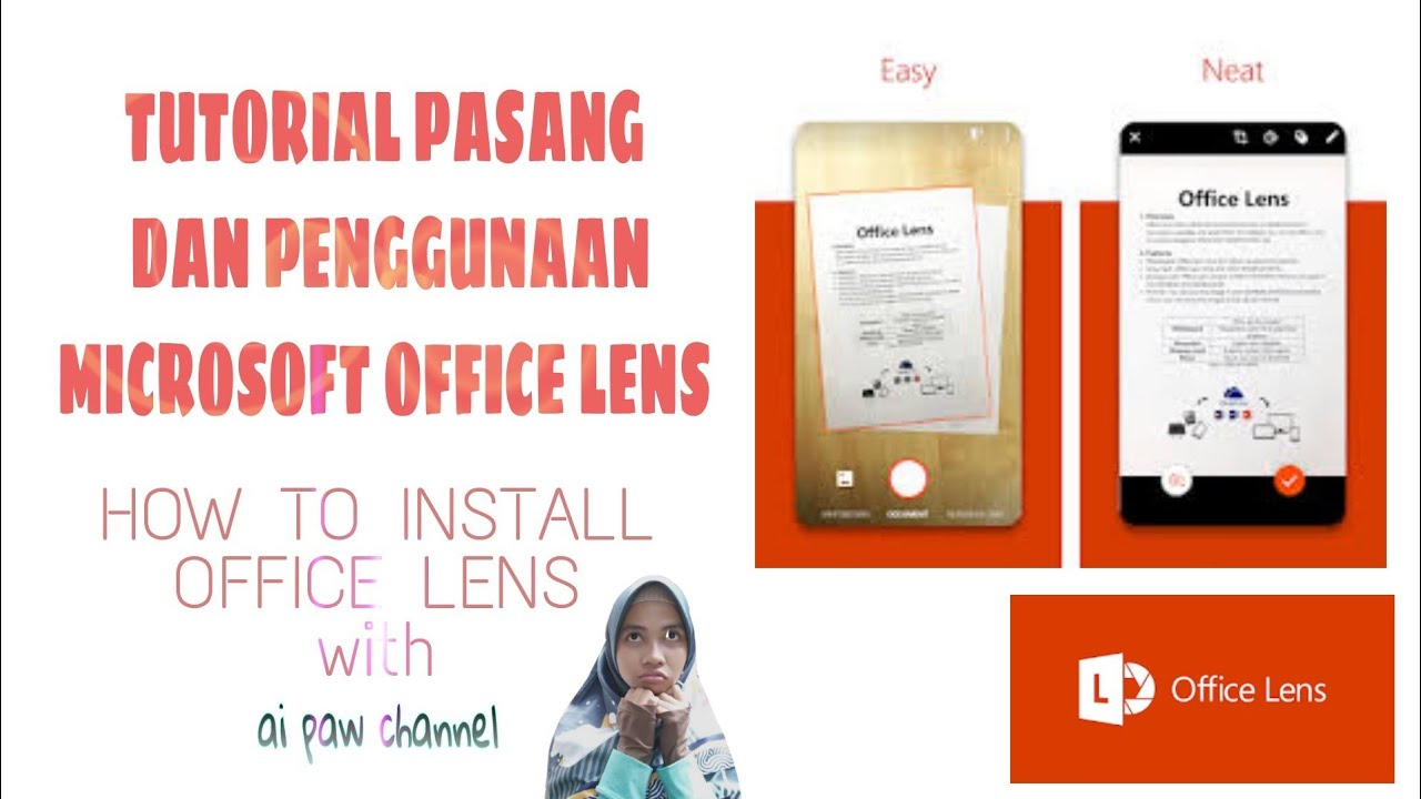 How to install office lens with ai paw channel
