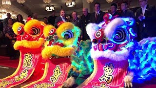 CNY 2018 ~ YKM LED Lion Dance :: China Tang Restaurant Las Vegas Grand Opening