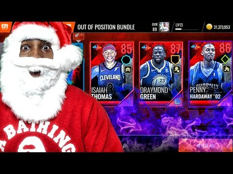 SANTA CLAUS OPENING OUT OF POSITION PLAYER PACKS! NBA Live Mobile 18 Ep. 24