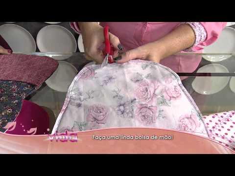 339ee5782 Aprenda como fazer uma linda bolsa de mão - YouTube