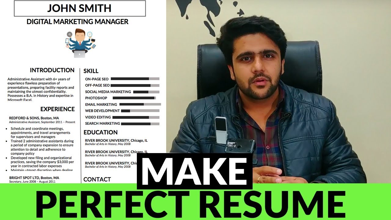 The Perfect Resume How To Make A Perfect Resume Infographics