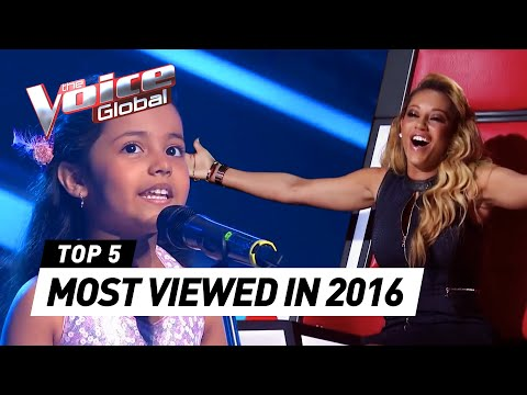 TOP 5 | MOST VIEWED Blind Auditions of The Voice Kids in 2016