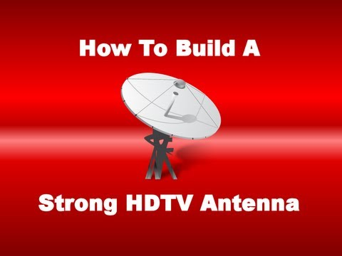how to build a strong hdtv antenna youtube. Black Bedroom Furniture Sets. Home Design Ideas