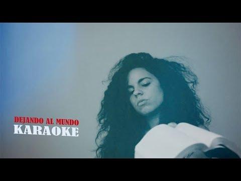 Dejando al mundo - karaoke - Danay Suarez