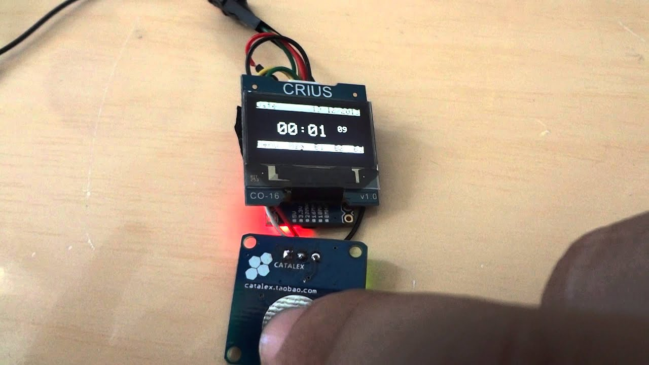Arduino watch with crius oled capacitive touch youtube