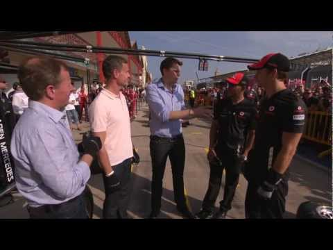 Team McLaren v Team BBC pit-stop challenge [BBC] F1 2011 Europe GP