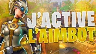 J'ACTIVE L'AIMBOT EN PLEIN STREAM! (FORTNITE BATTLE ROYALE GAMEPLAY)