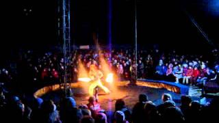 Фаер шоу в цирке