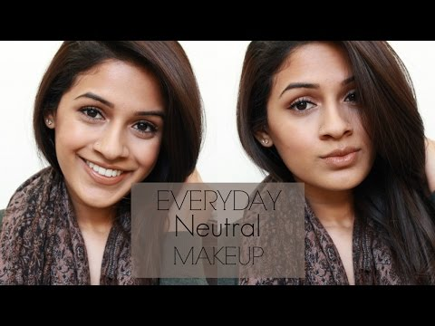 Simple everyday makeup tutorial for indian skin