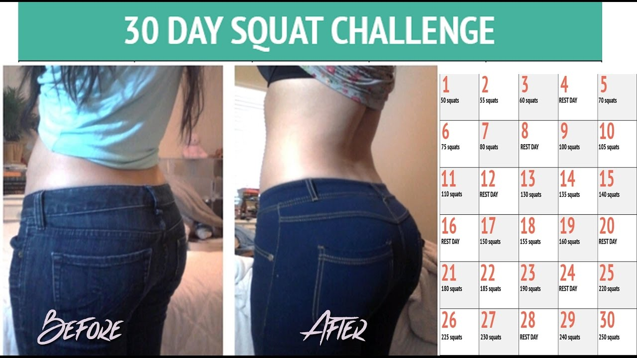 ImageSpace - 30 Day Squat Challenge Before And After
