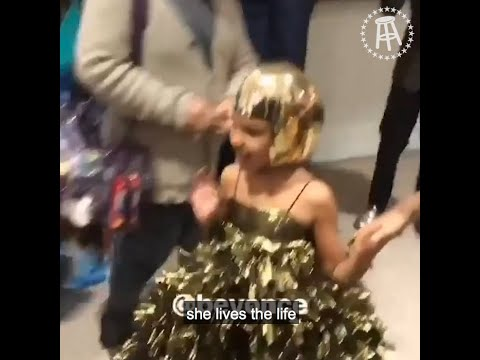 Download Youtube: Blue Ivy got into a $19,000 bidding war with Tyler Perry at an art gala