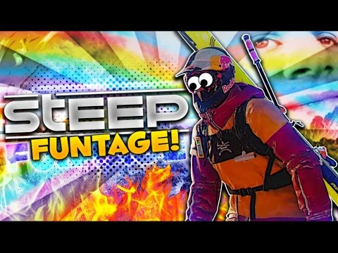 STEEP Funtage! - Epic Moments & Fails!, House Glitches, SubJohn (Steep Funny Moments)