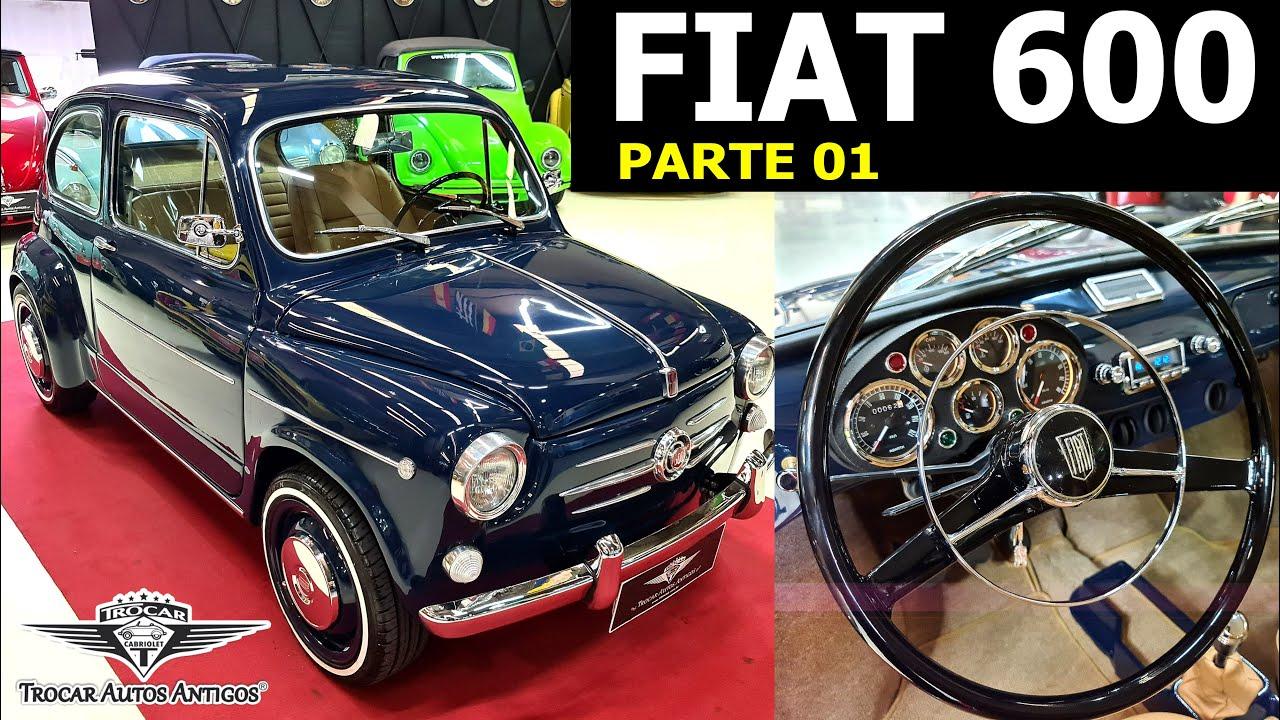 PARTE 01 - RESTAURAÇÃO COMPLETA DO FIAT 600 | ANO 1974, AZUL, AR-CONDICIONADO, Vídeo detalhado!