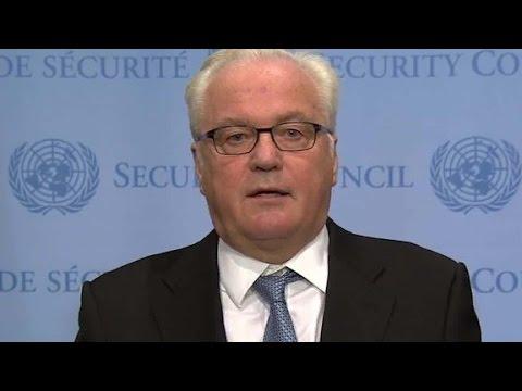 Vitaly Churkin calls airstrikes 'suspicious'
