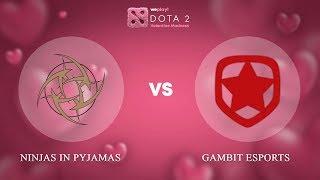 Ninjas in Pyjamas vs Gambit Esports - ENG @Map1 | Dota 2 Valentine Madness | WePlay!