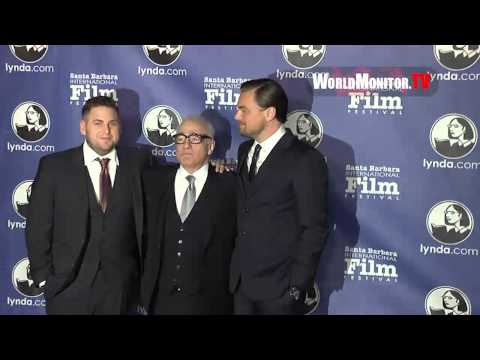 Leo Dicaprio, Jonah Hill, Martin Scorsese 29th Santa Barbara International Film Festival