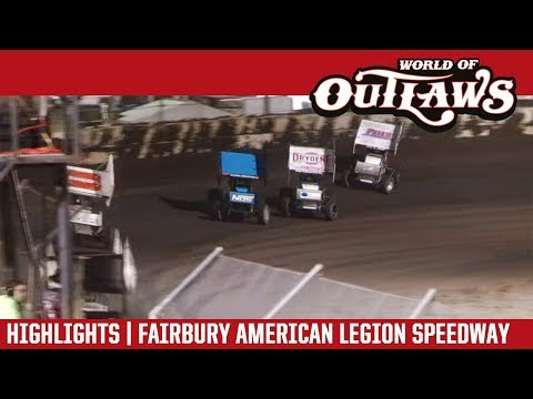 World of Outlaws Craftsman Sprint Cars Fairbury American Legion Speedway June 5, 2018 | HIGHLIGHTS