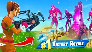 WINNING With *ONLY* Zombie Loot In Fortnite thumbnail