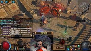 Path of Exile Гладиатор, раскол, блок, крит против шарпея =)