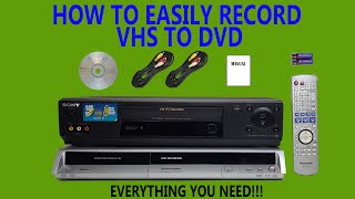 HOW TO RECORD VHS TAPES TO DVD DISCS WITH SEPERATE DEVICES A COMPLETE KIT FOR TRANSFERRING TO DISK