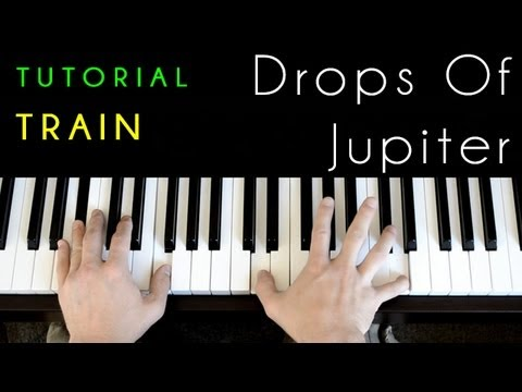 Train Drops Of Jupiter Piano Tutorial Cover Youtube
