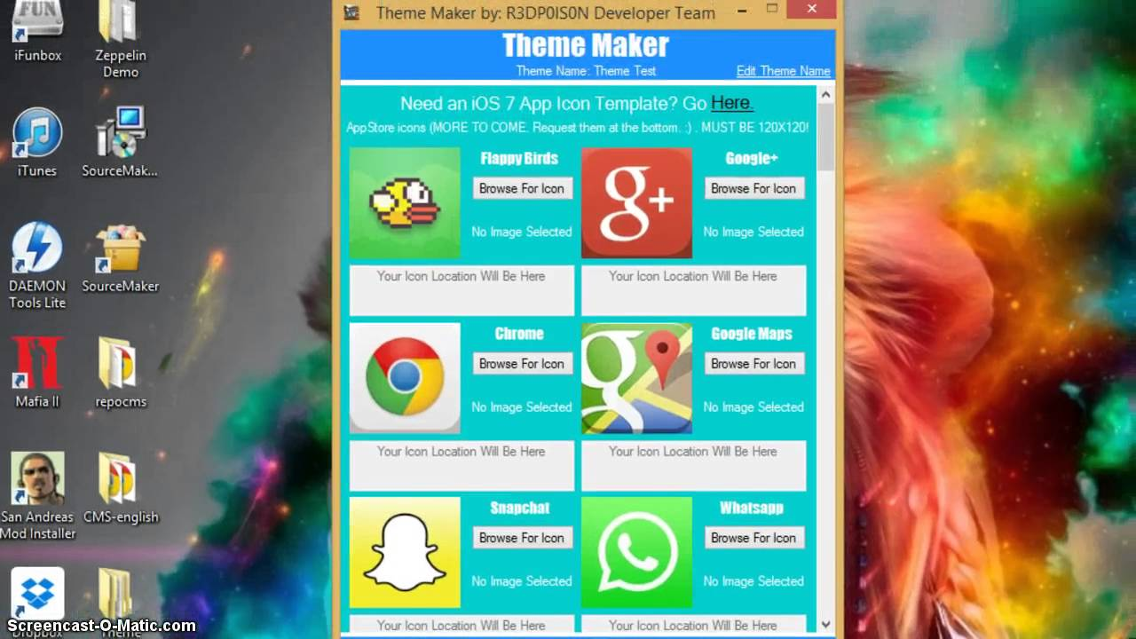 Google themes maker - Theme Maker Version 2 0 Make Winterboard And Zeppelin Themes With Ease