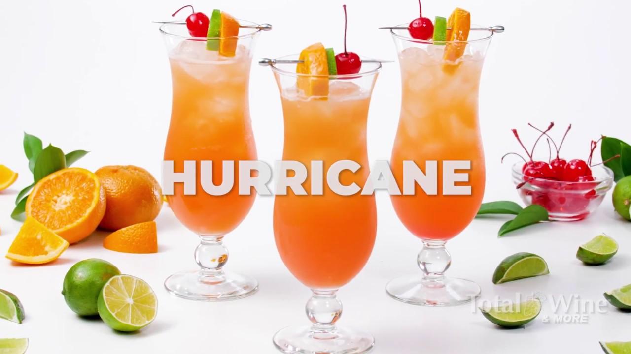 Hurricane Cocktail Recipe Youtube