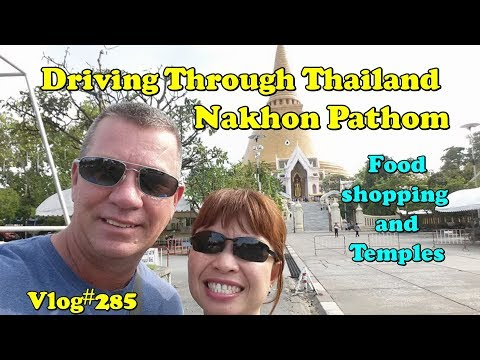 Driving through Thailand. Next stop Nakhon Pathom