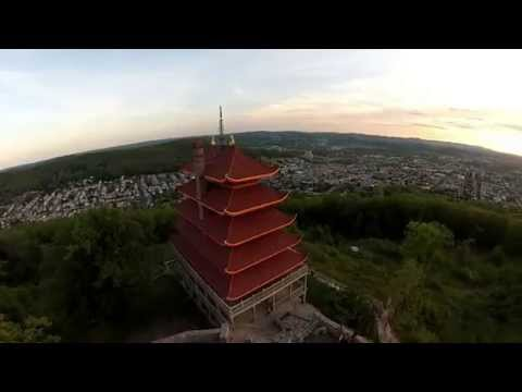 Drone video of the Pagoda in Reading, PA.
