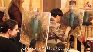 Мастер-класс живописи Елены Ильичевой - Бирюза