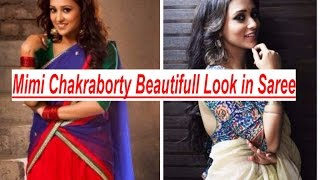Mimi Chakraborty in Saree Photoshoot - Bengali Actress Mimi Sexy Looks with Saree