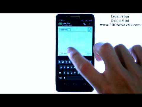 Motorola Droid Mini - How Do I Send a Picture Message