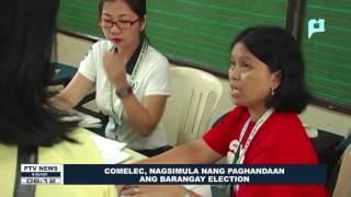 COMELEC, nagsimula nang paghandaan ang Barangay Election