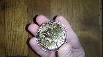 EBAY Bitcoin coin Real Bitcoin Gold plated COIN