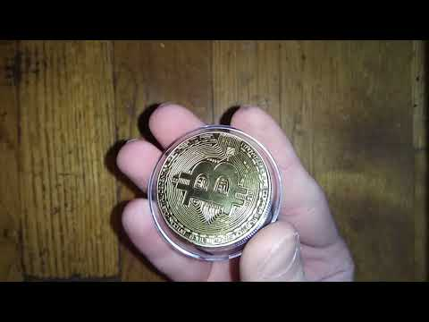 EBAY Bitcoin Coin Real Bitcoin Gold Plated COIN