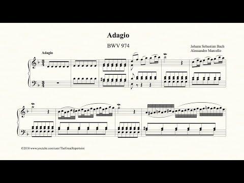 Bach, Adagio, BWV 974, Organ